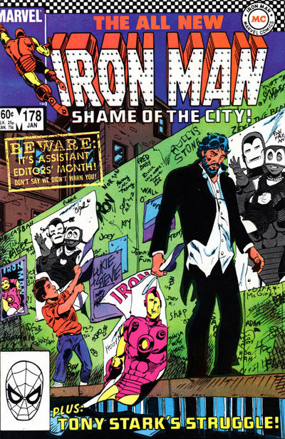 Cover for Iron Man (Marvel, 1968 series) #178 [Newsstand Edition]