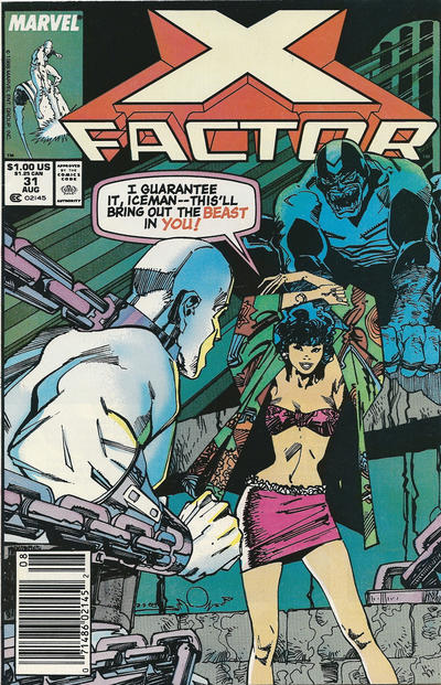 Cover for X-Factor (Marvel, 1986 series) #31 [Newsstand Edition]