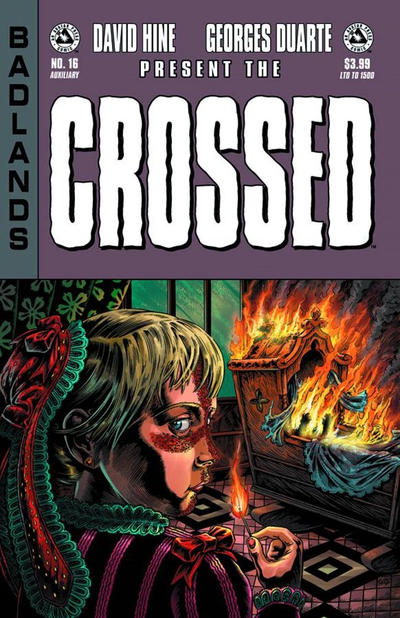 Cover for Crossed Badlands (2012 series) #16 [Red Crossed Variant Cover by Raulo Caceres]