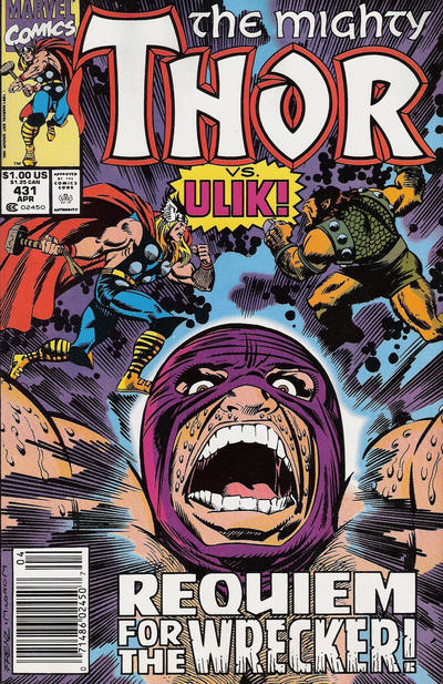 Cover for Thor (Marvel, 1966 series) #431