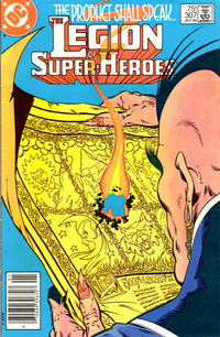 Cover Thumbnail for The Legion of Super-Heroes (DC, 1980 series) #307 [Newsstand]