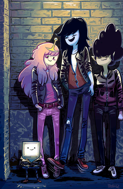 Cover for Adventure Time: Marceline and the Scream Queens (Boom! Studios, 2012 series) #4 [Cover B - Zack Sterling]