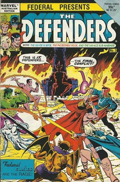 Cover for The Defenders (Federal, 1984 ? series) #3