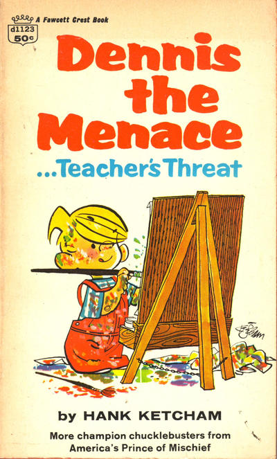 Cover for Dennis the Menace...Teacher's Threat (Crest Books, 1960 series) #d1123