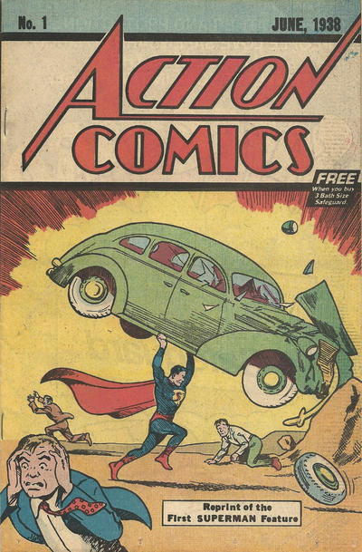Cover for Action Comics [Safeguard Deodorant Giveaway] (DC, 1976 series) #1