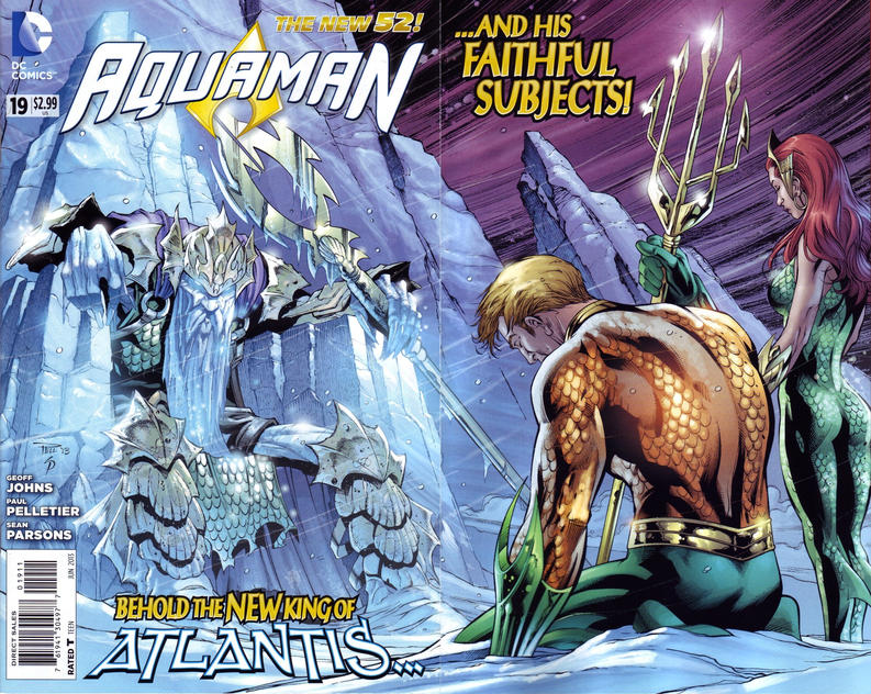 Cover for Aquaman (DC, 2011 series) #19 [MAD Magazine Variant by Tom Bunk]
