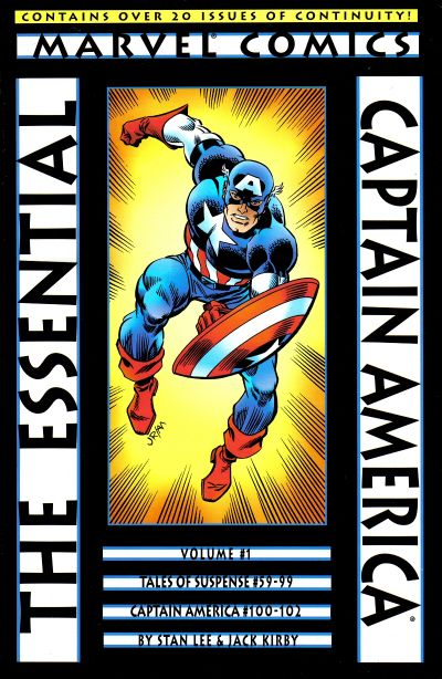 Cover for Essential Captain America (Marvel, 2000 series) #1 [Later printing(s)]