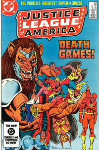 Cover for Justice League of America (DC, 1960 series) #222 [Newsstand]