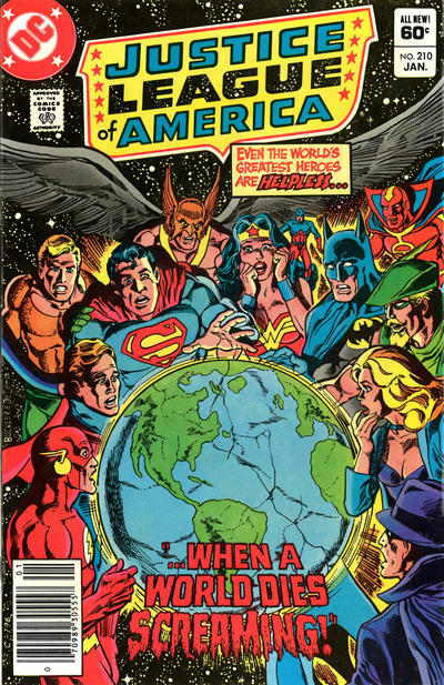Cover for Justice League of America (DC, 1960 series) #210 [Direct]