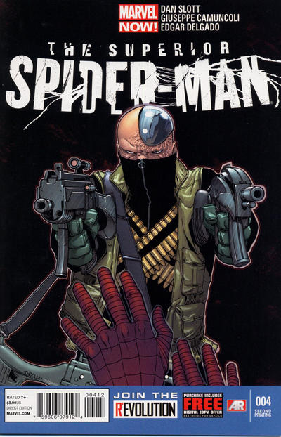 Cover for Superior Spider-Man (Marvel, 2013 series) #4 [2nd Printing]