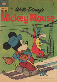 Cover Thumbnail for Walt Disney's Mickey Mouse (W. G. Publications; Wogan Publications, 1956 series) #44