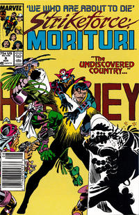 Cover Thumbnail for Strikeforce: Morituri (Marvel, 1986 series) #9 [Newsstand]