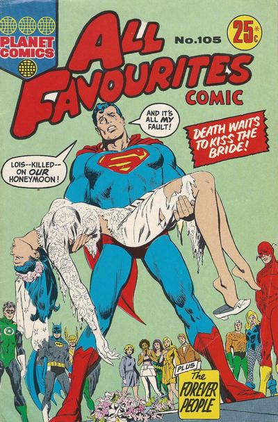 Cover for All Favourites Comic (K. G. Murray, 1960 series) #105