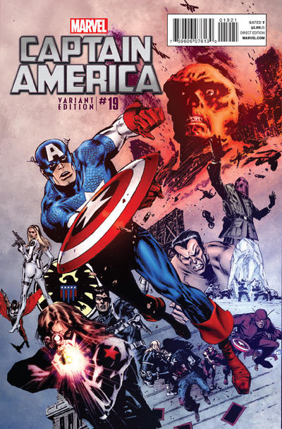 Cover for Captain America (Marvel, 2011 series) #19 [Mr Garcin]