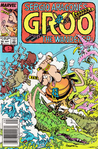 Cover Thumbnail for Sergio Aragonés Groo the Wanderer (Marvel, 1985 series) #55 [Newsstand]