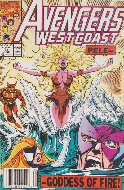Cover for Avengers West Coast (Marvel, 1989 series) #71 [Direct Edition]