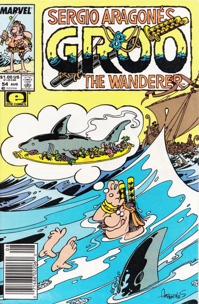Cover for Sergio Aragonés Groo the Wanderer (Marvel, 1985 series) #54 [Newsstand]