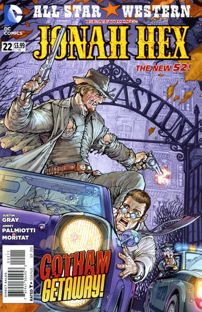 Cover for All Star Western (DC, 2011 series) #22