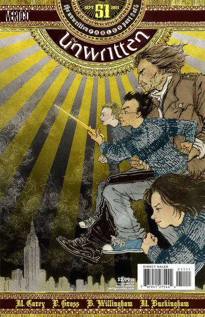 Cover for The Unwritten (DC, 2009 series) #51