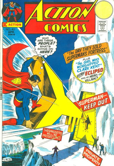 Cover for Action Comics (DC, 1938 series) #411