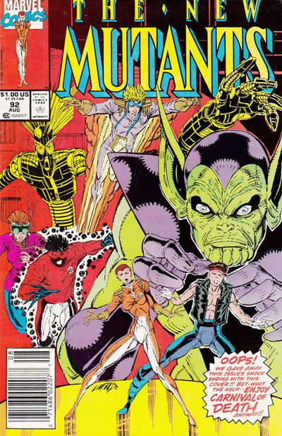 Cover for The New Mutants (Marvel, 1983 series) #92