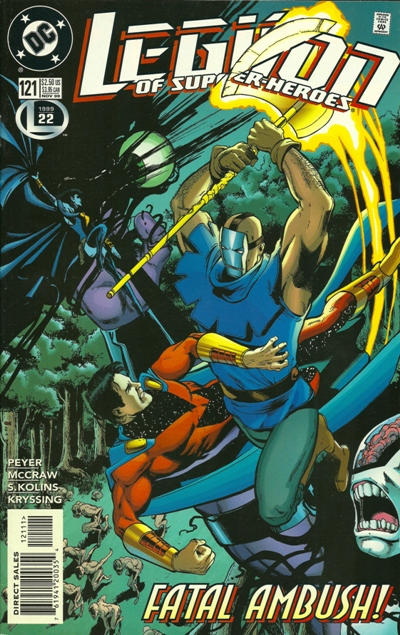 Cover for Legion of Super-Heroes (DC, 1989 series) #121