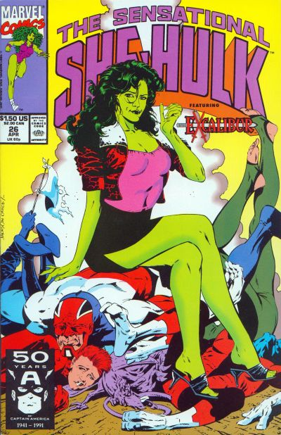 Cover for The Sensational She-Hulk (Marvel, 1989 series) #26
