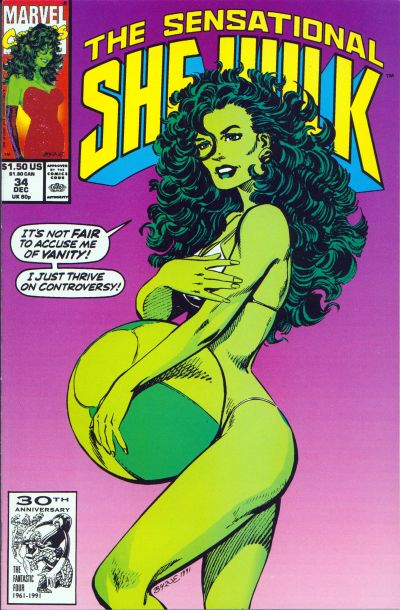 Cover for The Sensational She-Hulk (Marvel, 1989 series) #34