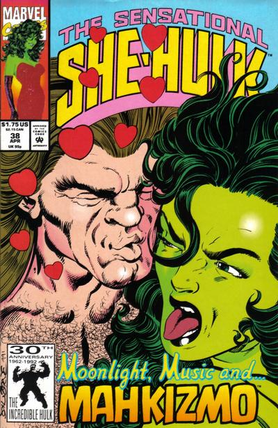 Cover for The Sensational She-Hulk (Marvel, 1989 series) #38
