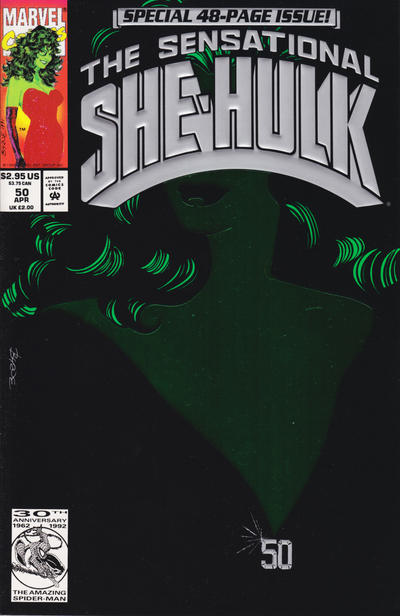 Cover for The Sensational She-Hulk (Marvel, 1989 series) #50 [direct]