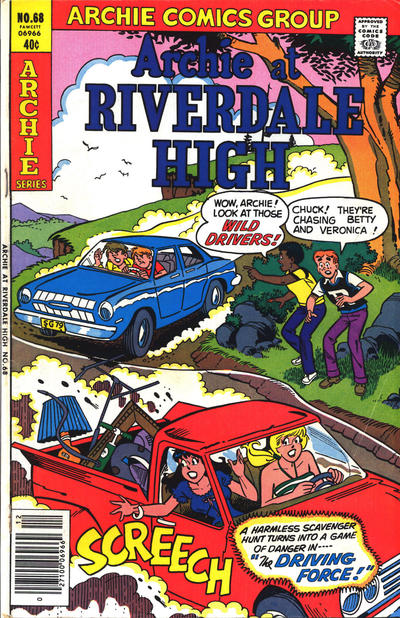 Cover for Archie at Riverdale High (Archie, 1972 series) #68