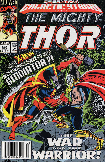 Cover for Thor (Marvel, 1966 series) #445 [Newsstand Edition]
