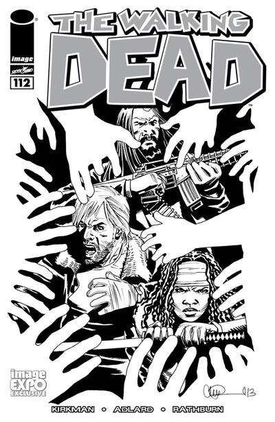 Cover for The Walking Dead (Image, 2003 series) #112 [Image Expo Exclusive Variant by Charlie Adlard]