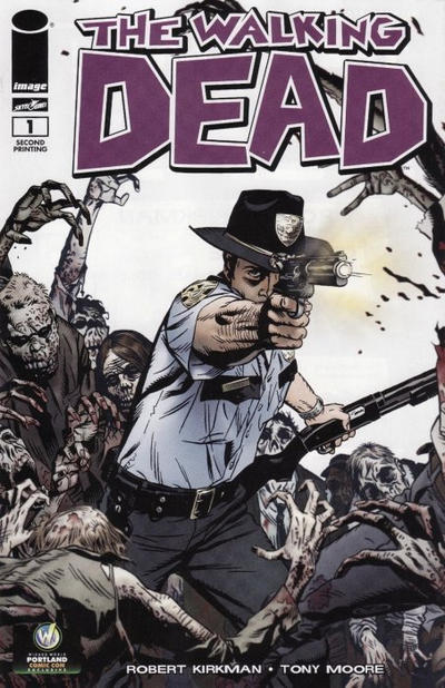 Cover for The Walking Dead (Image, 2003 series) #1 [Wizard World Chicago Comic Con Black & White Exclusive by Ethan Van Sciver]