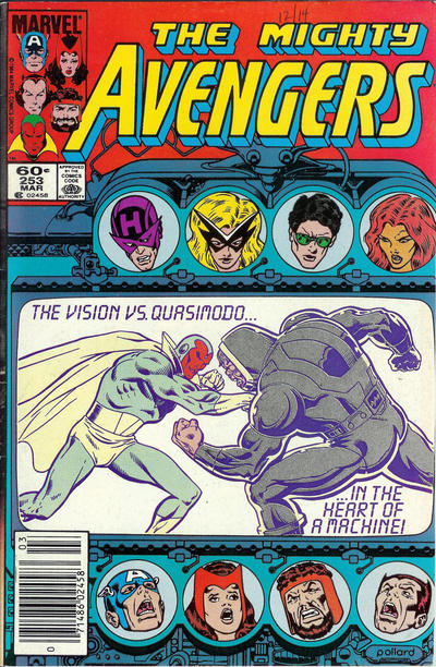 Cover for The Avengers (Marvel, 1963 series) #253 [Direct Edition]