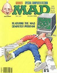 Cover for MAD (EC, 1952 series) #258