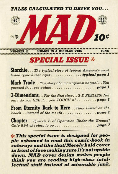 Cover for MAD (EC, 1952 series) #12