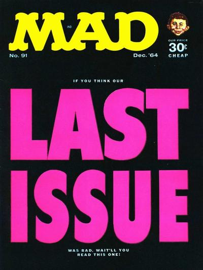 Cover for MAD (EC, 1952 series) #91