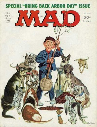 Cover for MAD (EC, 1952 series) #184
