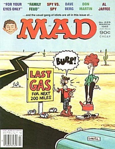 Cover for MAD (EC, 1952 series) #229