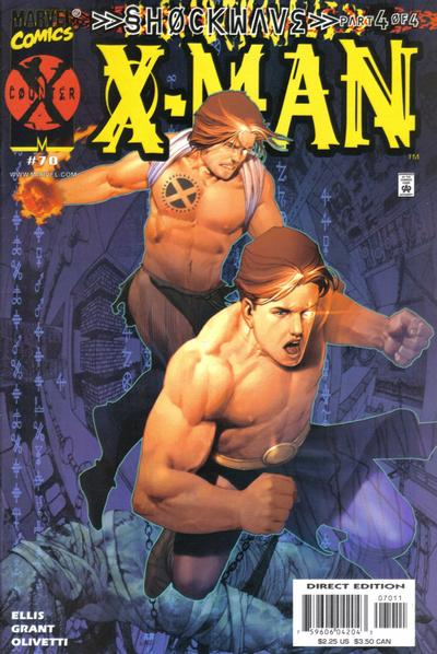 Cover for X-Man (Marvel, 1995 series) #70