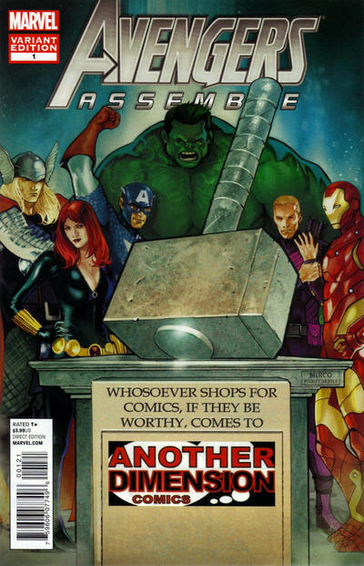 Cover for Avengers Assemble (Marvel, 2012 series) #1 [Cards Comics & Collectibles Variant Cover]