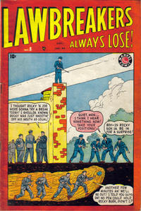 Cover Thumbnail for Lawbreakers Always Lose (Bell Features, 1948 series) #8