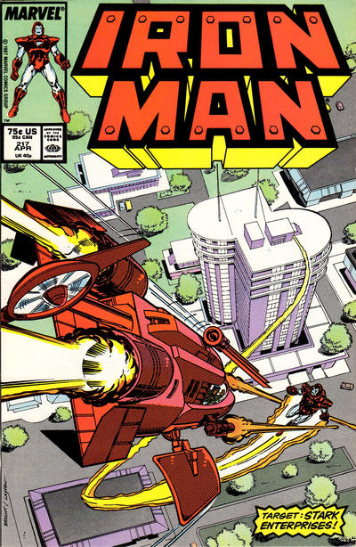 Cover for Iron Man (Marvel, 1968 series) #217 [Newsstand Edition]
