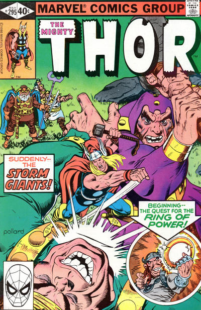 Cover for Thor (Marvel, 1966 series) #295 [Direct Edition]