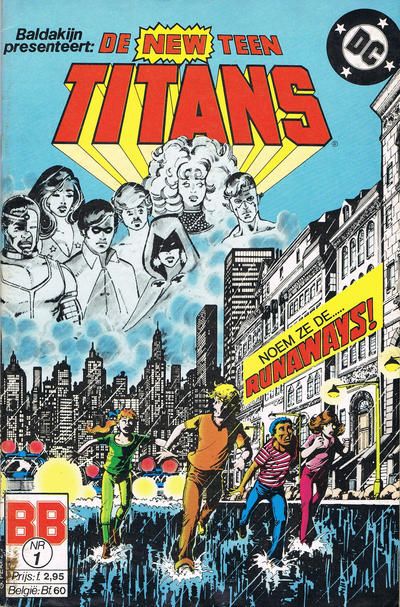 Cover for De New Teen Titans (JuniorPress, 1985 series) #1