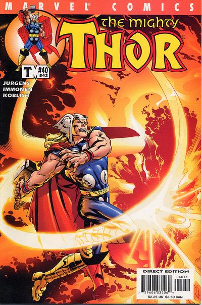 Cover for Thor (Marvel, 1998 series) #40 (542)