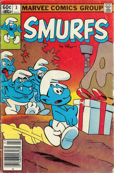 Cover for Smurfs (Marvel, 1982 series) #3 [Newsstand Edition]