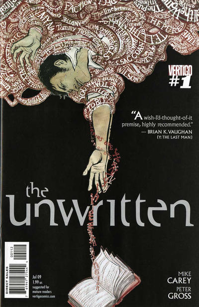 Cover for The Unwritten (DC, 2009 series) #1