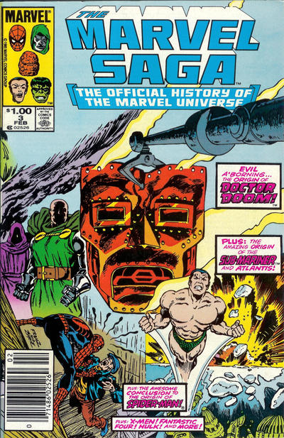 Cover for The Marvel Saga the Official History of the Marvel Universe (Marvel, 1985 series) #3 [Direct Edition]